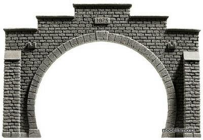 Noch 34852 N Portal del túnel, doble vía, 12,3 x 8,5 centímetros