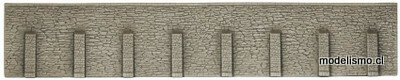 Noch 58067 Muro de contención, extra largo, 66 x 12,5 centímetros