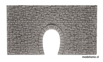 Noch 58026 H0m/H0e Túnel Portal de vía única, 23 x 12,7 cm