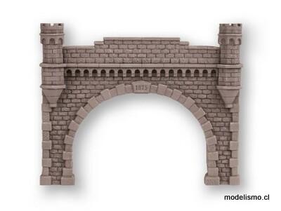 Noch 58271 Túnel Portal de doble vía, 21,5 x 17,5 cm