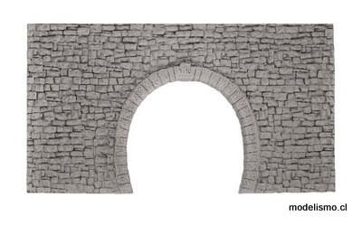 Noch 58027 H0m/H0e Túnel Portal de doble vía, 23 x 12,7 cm