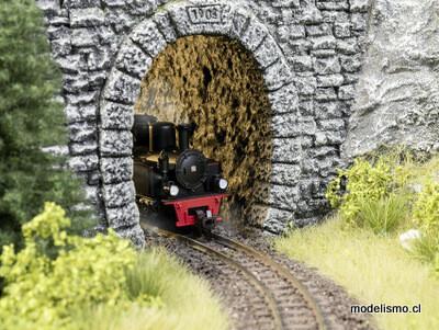 Noch 58032 Pared interior del túnel de roca, recta, 2 piezas, 9,5 cm de largo