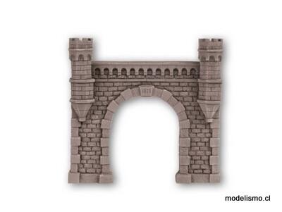 Noch 58270 Túnel Portal de vía única, 16 x 15,2 cm