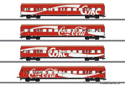 "Reserva anticipada Märklin H0 43890 Set de coches de viajeros de tren de cercanías ""S-Bahn"" Coca-Cola"