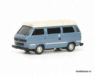 "Reserva anticipada Schuco 452644500 Autobús de camping VW T3b ""Joker"", azul, 1:87"