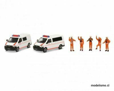Schuco 452655500 MHI Set DB EMERGENCIA VW T5 1:87