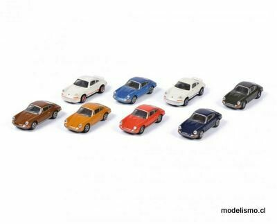 Schuco 452650200 Porsche 911, 8x Set 1:87