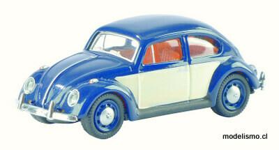 Schuco 452622300 VW Escarabajo, azul/blanco 1:87