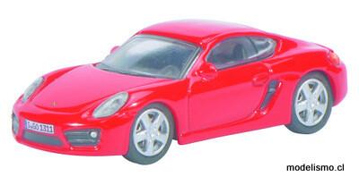 Schuco 452610900 Porsche Cayman S, rojo 1:87