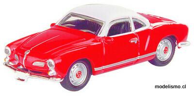 Schuco 452622200 VW Karmann Ghia, rojo 1:87