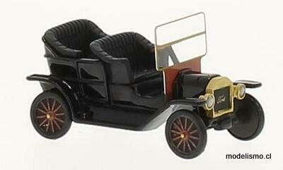BoS 87175 Ford T-Model Touring negro, 1909, Resina, 1:87