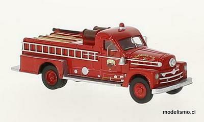 Reserva anticipada BoS 87505 Seagrave 750 Fire Engine rojo, 1958, Resina, 1:87