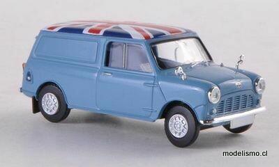 Brekina 15361 Austin Mini Van azul claro, decoración, 1:87