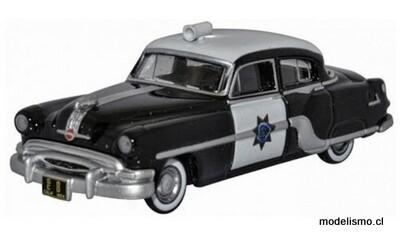 Reserva anticipada Oxford 54003 Pontiac Chieftain 4 puertas 1954, Patrulla de Caminos de California, 1:87