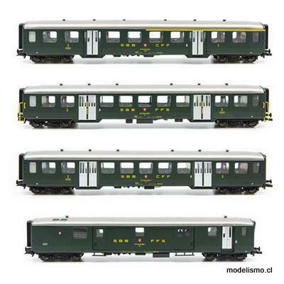 Liliput 330513 SBB Set de vagones de acero ligero II - Era IV