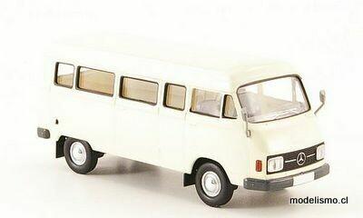 Brekina 13251 Mercedes L 206D Kombi blanco, 1970, 1:87