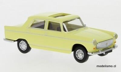 Reserva anticipada Brekina 29023 Peugeot 404 techo corredizo abierto amarillo claro, 1961, 1:87