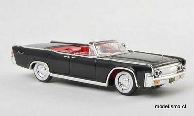 Reserva anticipada Ricko 38422 Lincoln Continental Convertible negro, 1963, 1:87