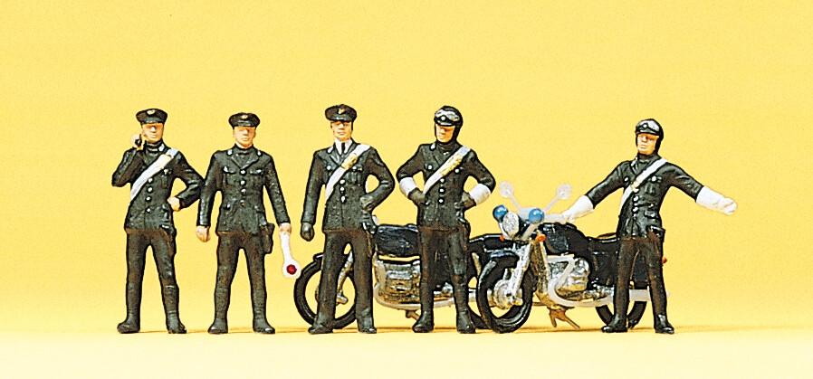 Preiser 10175 H0 Carabinieri, 2 motos