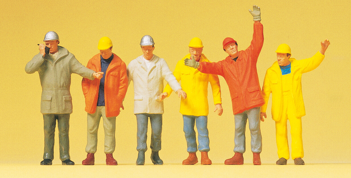 Reserva anticipada Preiser 68214 1:50 Trabajadores industriales