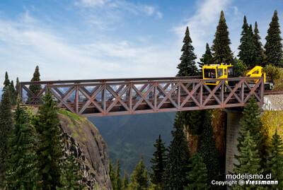 Kibri 39702 H0 Puente de acero marco, vía única