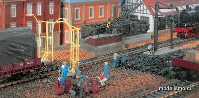 Vollmer 45711 H0 Planta de carbón, grúa de agua y gálibo de carga