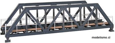 Reserva anticipada Kibri 39701 H0 Puente de armadura de acero, vía única