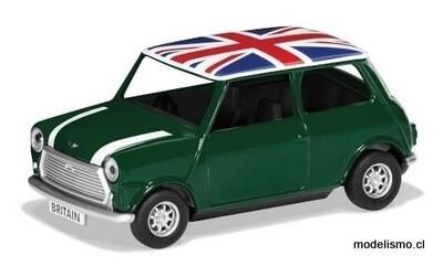 Corgi 82112 Mini Cooper, verde / blanco, RHD, Union Jack Best of British 1:36