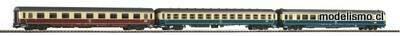 Piko H0 58387 Juego de 3 turismos IC 2x 2a clase + 1a clase DB IV