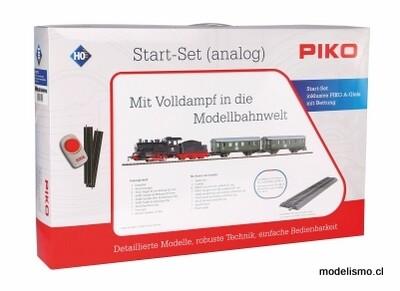 Piko 57112 H0 Juego de arranque con ropa de cama, tren de pasajeros, locomotora de vapor con ténder