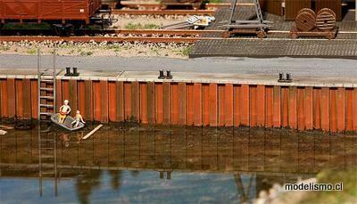 Faller 131012 Muro del muelle
