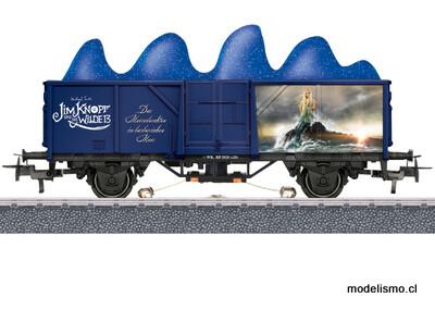 """Märklin H0 44819 Märklin Start up: vagón de mercancías """"Lámparas de fosforescencia del mar"""".¡La fuerza magnética es algo magnífico!"""