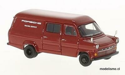 Reserva anticipada BoS 87375 Ford Transit Mk. I, rojo, Porsche Racing Service, 1965 1:87