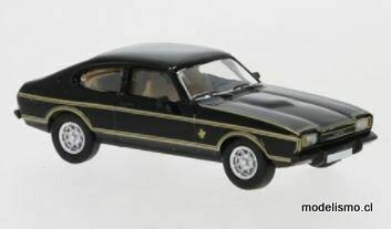PCX 870070 1:87 Ford Capri MK II negro, decoración, 1974