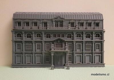 Edificio de fondo H0 Banco