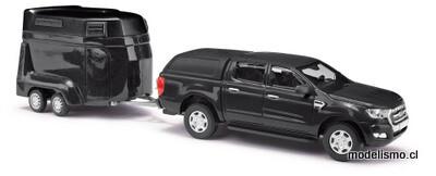 Reserva anticipada Busch H0 52814 Ford Ranger con remolque para caballos