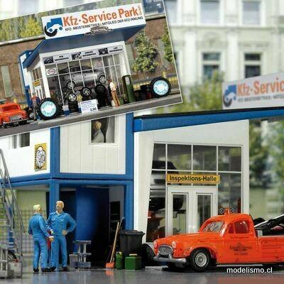 Busch H0 1062 Comercio de neumáticos con grúa