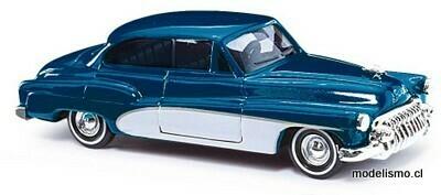 """Reserva anticipada Busch H0 44721 Buick '50 """"Deluxe"""", azul metálico"""