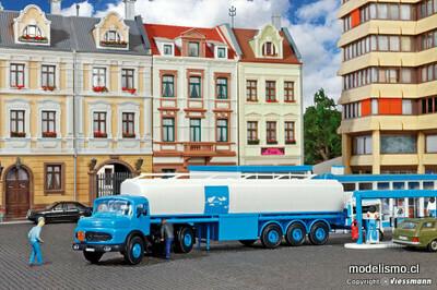 Reserva anticipada Kibri 14610 Capota redonda H0 MB con camión cisterna ARAL