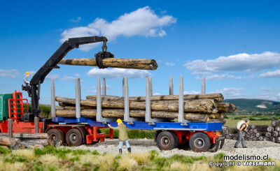 Reserva anticipada Kibri 12250 Semirremolques H0 DOLL para madera corta y larga