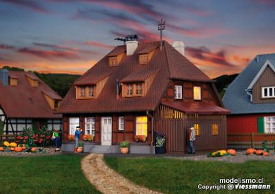Reserva anticipada Kibri 38209 H0 Casa Mühlenweg en el Spreewald, incluido el juego de iluminación de la casa