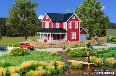Kibri 38840 H0 casa sueca, roja