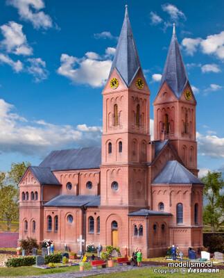 Reserva anticipada Kibri 39760 H0 Iglesia románica de la ciudad de Jakobwüllesheim