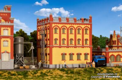 Kibri 39827 Edificio de ampliación H0 de la fábrica de cerveza Feldschlösschen