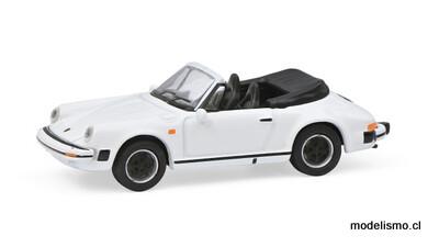 Schuco 452659800 Porsche 911 Carrera 3.2 Cabriolet Blanco H0 - 1:87
