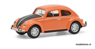 Schuco 452662800 VW Escarabajo naranja / negro 1:87