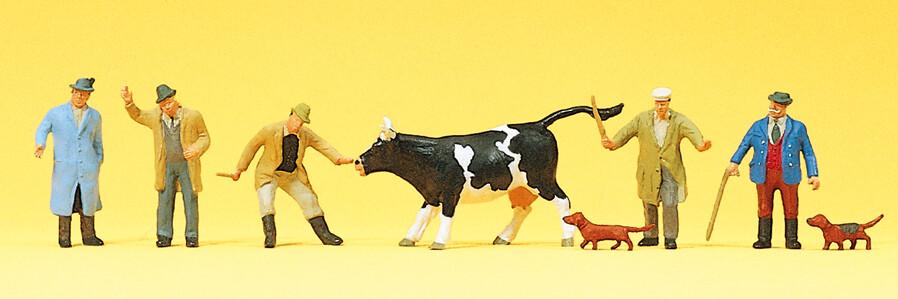 Preiser 10048 H0 - Comercio de ganado