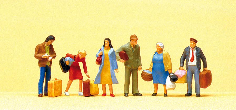 Preiser 10114 H0 - Esperando viajeros