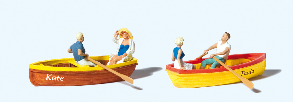 Reserva anticipada Preiser 10686 H0 - Al remar, dos botes y dos parejas