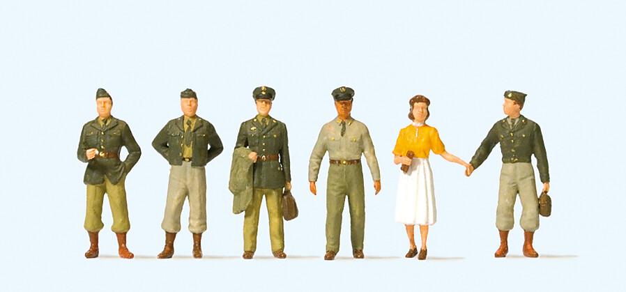 Reserva anticipada Preiser 10594 H0 - Soldados estadounidenses, años cincuenta